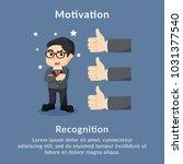motivation recognition... | Shutterstock .eps vector #1031377540