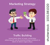 marketing strategy traffic... | Shutterstock .eps vector #1031381020