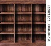 empty wood shelf. grunge... | Shutterstock . vector #103138334
