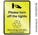 yellow turn off lights public... | Shutterstock .eps vector #1031385148