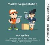 market segmentation accessible... | Shutterstock .eps vector #1031385580