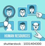 human resources management... | Shutterstock .eps vector #1031404300