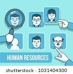 human resources management... | Shutterstock .eps vector #1031404300