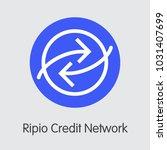 vector ripio credit network... | Shutterstock .eps vector #1031407699