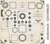 vintage set of horizontal ... | Shutterstock . vector #1031408620