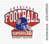 american football logo design... | Shutterstock .eps vector #1031409034