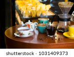 cafe items with coffee and more | Shutterstock . vector #1031409373