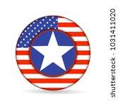 united state of america flag on ... | Shutterstock .eps vector #1031411020