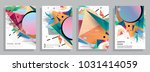 colorful abstract geometric... | Shutterstock .eps vector #1031414059