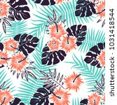 seamless vector pattern of... | Shutterstock .eps vector #1031418544