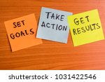set goals  take action and get... | Shutterstock . vector #1031422546