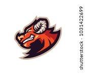 orange bull e sport logo | Shutterstock .eps vector #1031422699