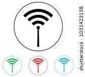 wi fi logo  radio waves logo   Shutterstock .eps vector #1031423158