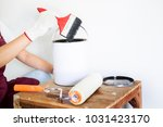 professional painter workman... | Shutterstock . vector #1031423170