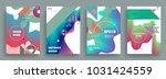 artistic covers design.... | Shutterstock .eps vector #1031424559