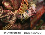 beautiful bride with henna for... | Shutterstock . vector #1031426470