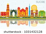sucre skyline with color... | Shutterstock . vector #1031432128