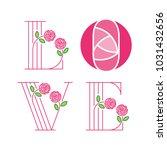love typography. love initial...   Shutterstock .eps vector #1031432656