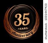 35 years anniversary.... | Shutterstock .eps vector #1031447923