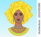 african beauty. an animation... | Shutterstock .eps vector #1031450380