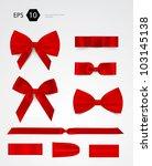 vector bow collection | Shutterstock .eps vector #103145138