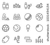 flat vector icon set   man and... | Shutterstock .eps vector #1031454154