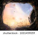 resurrection of easter sunday ... | Shutterstock . vector #1031459059