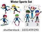 different types of winter... | Shutterstock .eps vector #1031459290