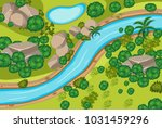 aerial view of forest and river ... | Shutterstock .eps vector #1031459296
