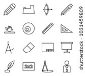 flat vector icon set   pencil... | Shutterstock .eps vector #1031459809