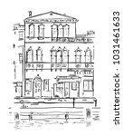 venetian old building hand... | Shutterstock .eps vector #1031461633