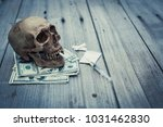 the symbol of death  the photo... | Shutterstock . vector #1031462830