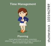 time management planning...   Shutterstock .eps vector #1031462989