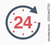 24 number grey axis time hour... | Shutterstock .eps vector #1031463733