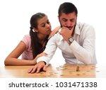 beautiful couple saving money...   Shutterstock . vector #1031471338