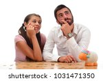 beautiful couple saving money...   Shutterstock . vector #1031471350