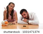 beautiful couple saving money...   Shutterstock . vector #1031471374