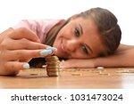 young brunette women collecting ...   Shutterstock . vector #1031473024
