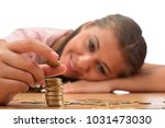 young brunette women collecting ...   Shutterstock . vector #1031473030