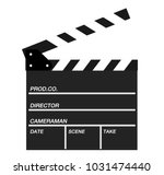 movie clapper isolated on white ... | Shutterstock .eps vector #1031474440