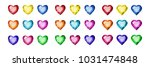 a set of gems in the shape of a ... | Shutterstock .eps vector #1031474848