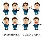 cute people   businessman set  | Shutterstock .eps vector #1031477344