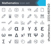 mathematics line icon set  ... | Shutterstock .eps vector #1031480560