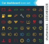 colorful car dashboard... | Shutterstock .eps vector #1031481028