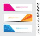 abstract design banner web... | Shutterstock .eps vector #1031484838