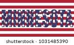 minnesota on usa flag | Shutterstock .eps vector #1031485390