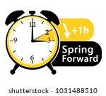 spring forward. daylight saving ... | Shutterstock .eps vector #1031488510