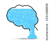 the brain leaks out of knowledge | Shutterstock .eps vector #1031488858