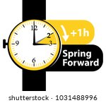 spring forward. daylight saving ... | Shutterstock .eps vector #1031488996