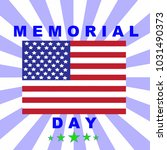 memorial 's day of concept with ... | Shutterstock .eps vector #1031490373